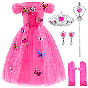 Princess Cinderella Dress Up Party Costumes with Deluxe Accessories