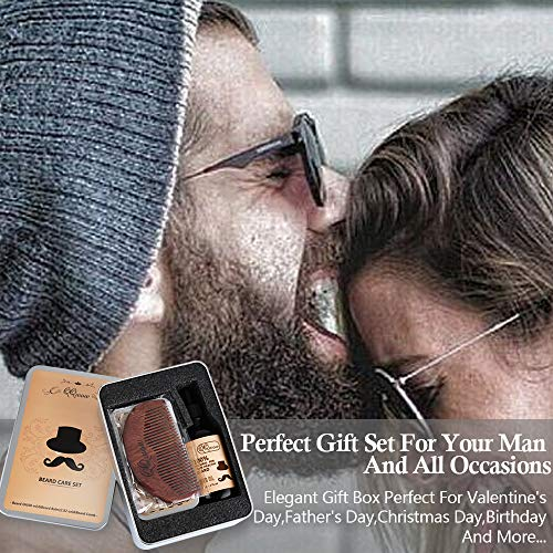 QQwow Beard Grooming & Care Kit for Mens