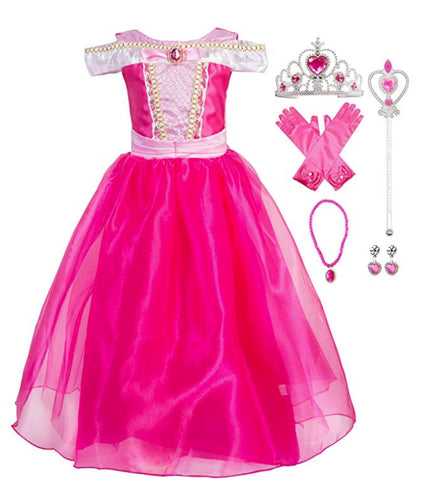 Princess Aurora Costume Halloween Party Dress Up