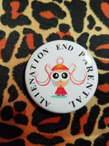 End Parental Alienation Girl Crying Button - Parental Alienation Speaks Store