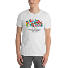 Load image into Gallery viewer, World Parental Alienation Awareness Day Unisex T-Shirt White & Grey - Parental Alienation Speaks Store