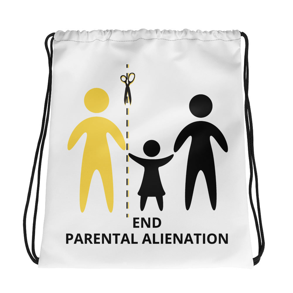 End Parental Alienation Drawstring bag - Parental Alienation Speaks Store