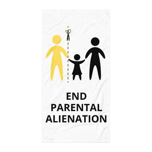 End Parental Alienation Beach Towel - Parental Alienation Speaks Store