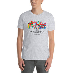 World Parental Alienation Awareness Day Unisex T-Shirt White & Grey - Parental Alienation Speaks Store