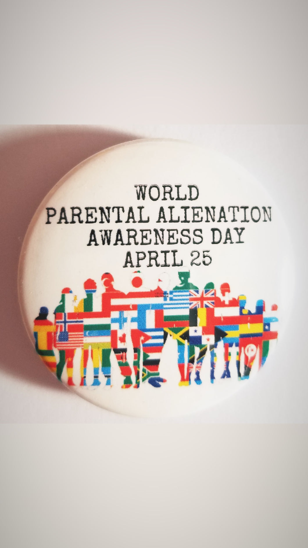 World Parental Alienation Awareness Button - Parental Alienation Speaks Store