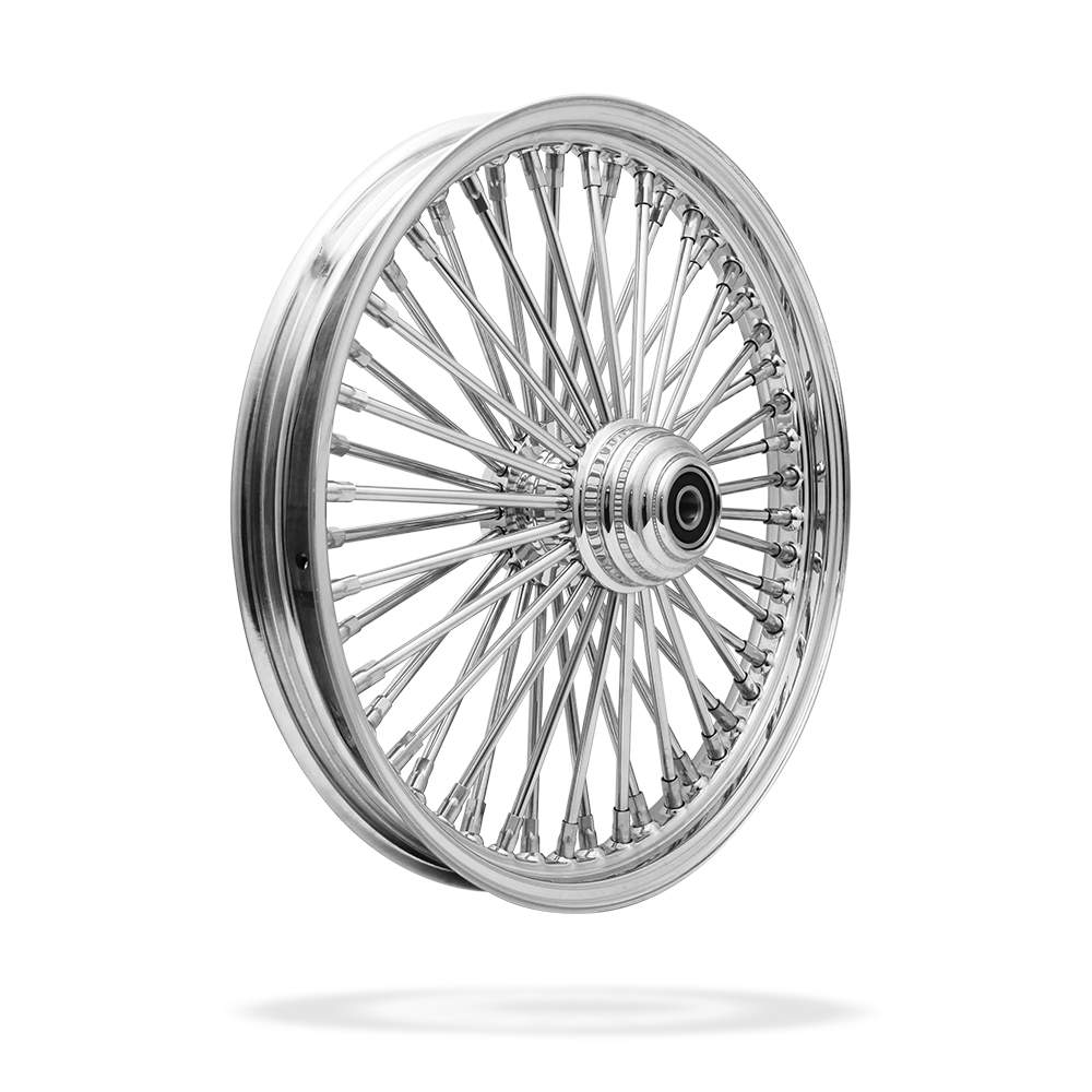 19x2.15 Front 50-Spoke Pre-Made Custom Motorcycle Wheel (Steel, CCCC)