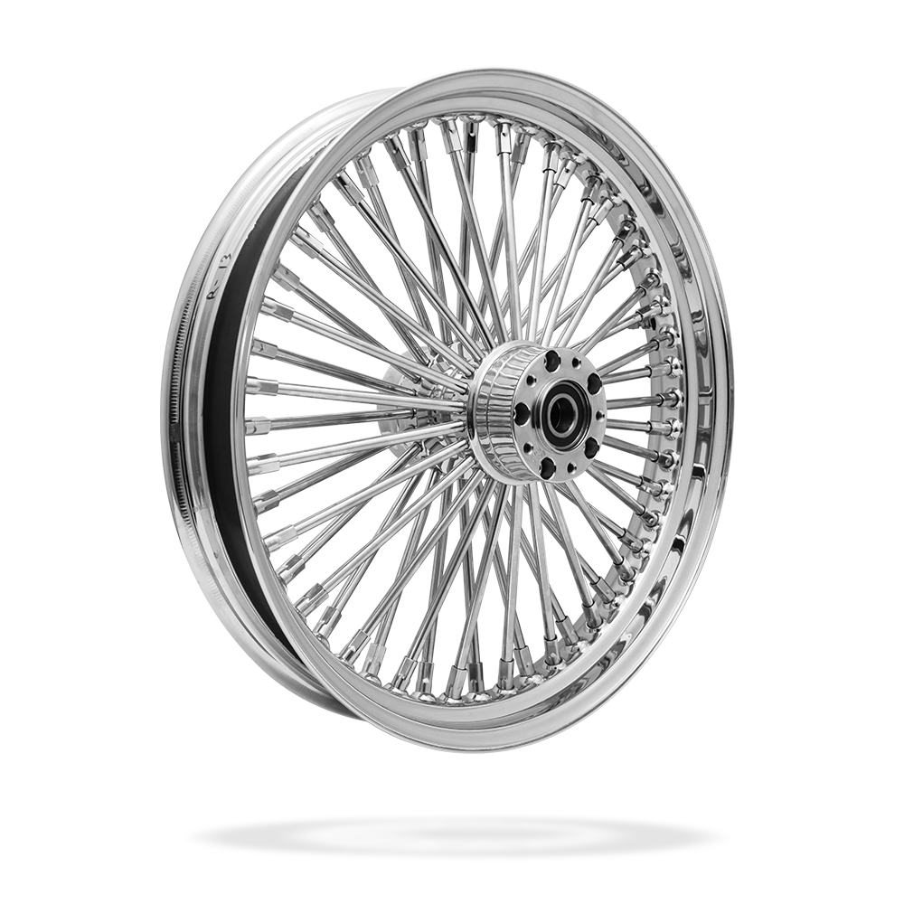 19x3 Front Or Rear 50-Spoke Pre-Made Custom Motorcycle Wheel (Steel, CCCC)
