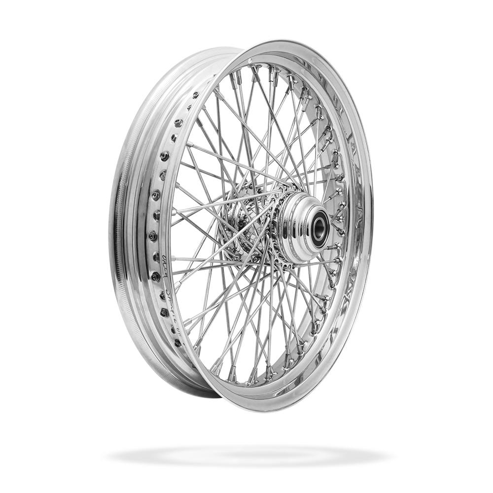 19x3 Front Or Rear 60-Spoke Pre-Made Custom Motorcycle Wheel (Steel, CCCC)