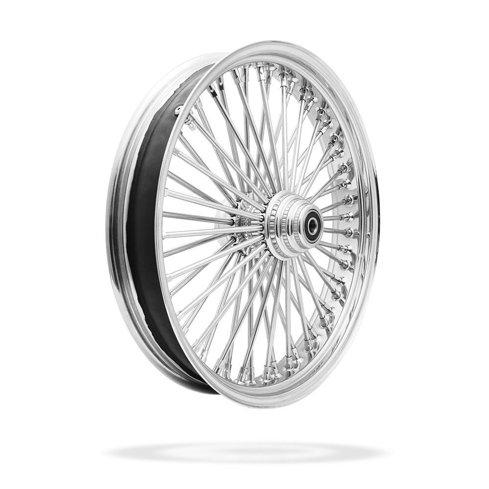 21x3.5 Front Or Rear 50-Spoke Pre-Made Custom Motorcycle Wheel (Steel, CCCC)