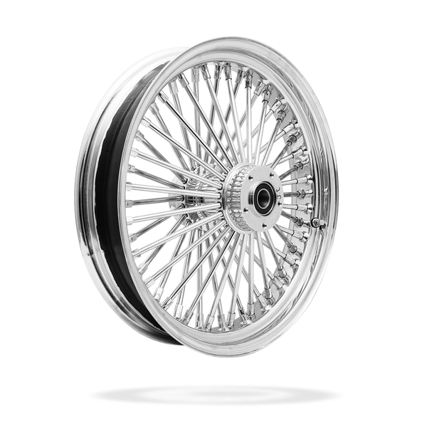 18x3.5 Front Or Rear 50-Spoke Pre-Made Custom Motorcycle Wheel (Steel, CCCC)