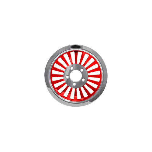 Klassic Pulley - 66-tooth @ 0.75 - Gloss Red