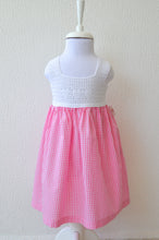 Load image into Gallery viewer, girls pink gingham dress