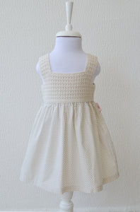 Girls neutral color dress