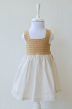 Load image into Gallery viewer, Girls Beige Cotton Dress