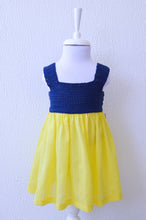 Load image into Gallery viewer, navy yellow dress