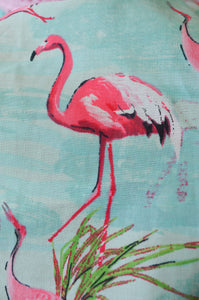 Pink Flamingo Print Dress
