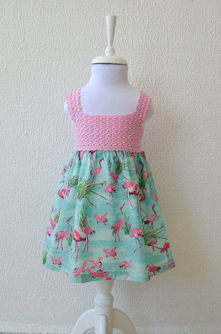 Candy Pink Flamingo Dress