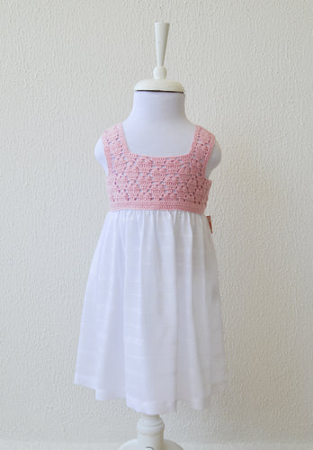 girls pink hearts dress