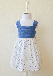 blue Anchor Print Dress