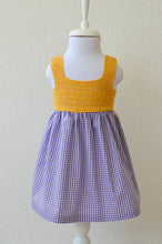 Load image into Gallery viewer, Purple Gingham Dress