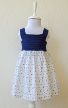 Load image into Gallery viewer, Navy Anchor Print Dress