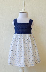 Navy Anchor Print Dress
