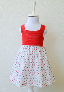 red Anchor Print Dress