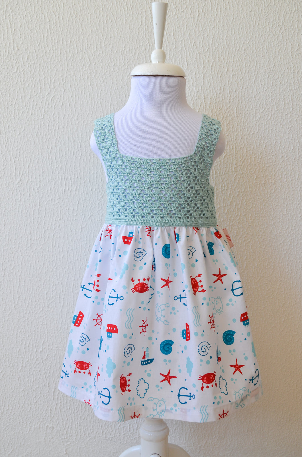 Happy Crab Summer Dress