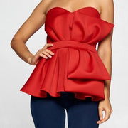 Sweetheart Peplum | Top