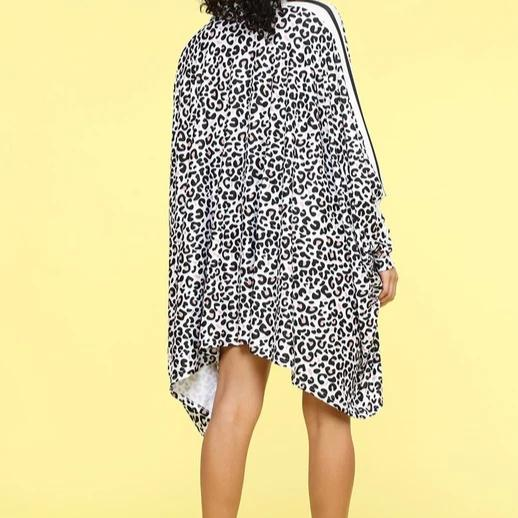 Fly Girl Leopard | Cape Dress