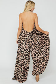 All the Flow Wide Leg Leopard | Jumpsuit