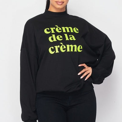 The Cream De Le Cream Black Sweater