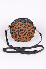 Leopard Love Round | Clutch