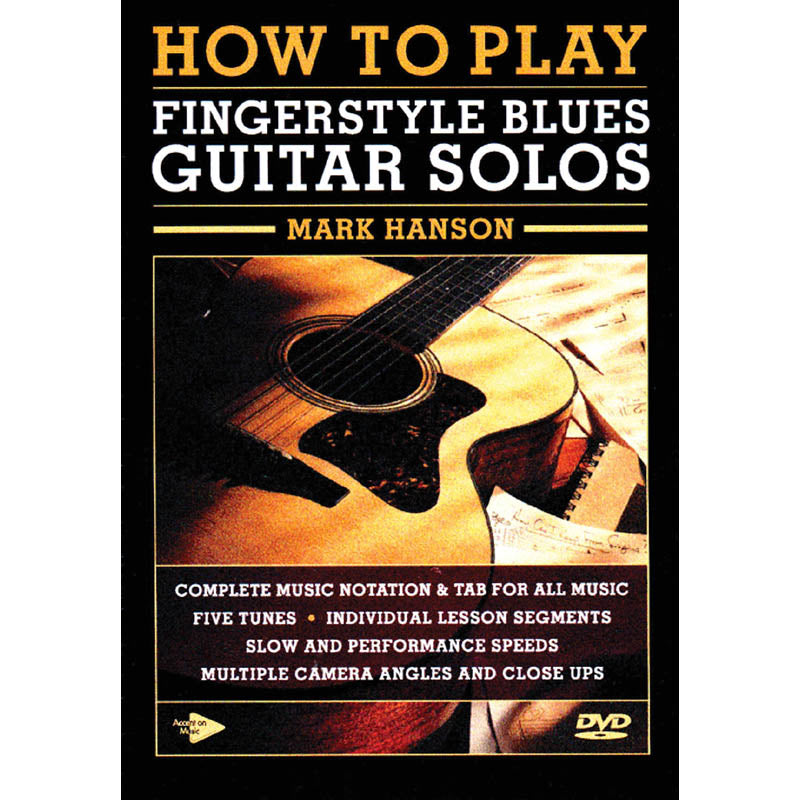 DVD - How to Play Fingerstyle Blues Guitar Solos
