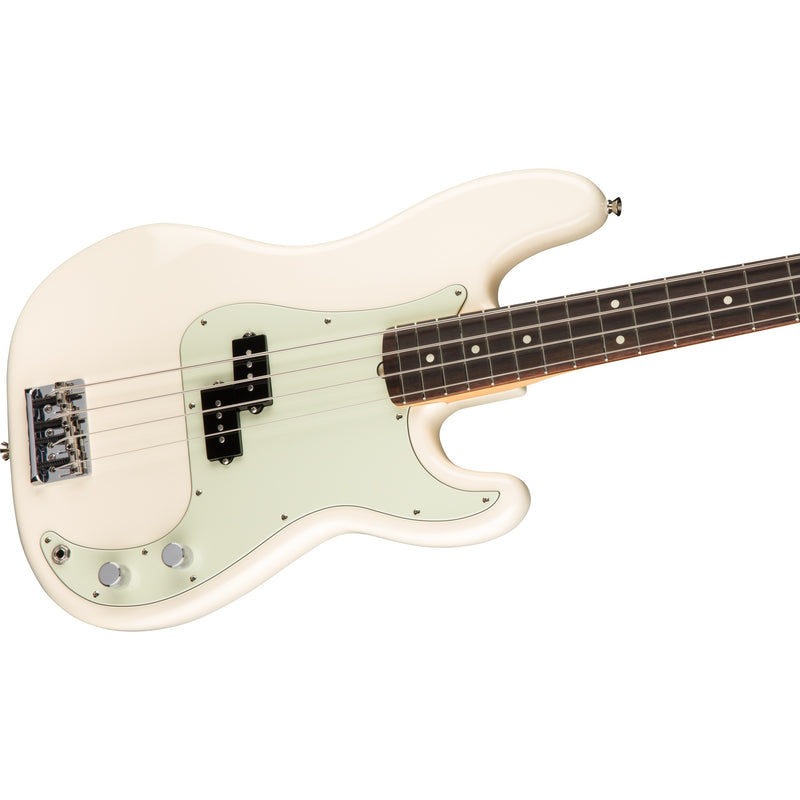 Fender American Pro Precision Bass & Case, Olympic White