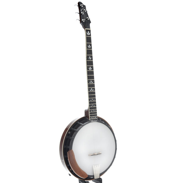 Nechville Mahogany Phantom Banjo & Case, Diamond Wing Inlay