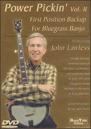DVD - Power Pickin', Vol. 2: First Position Backup for Bluegrass Banjo