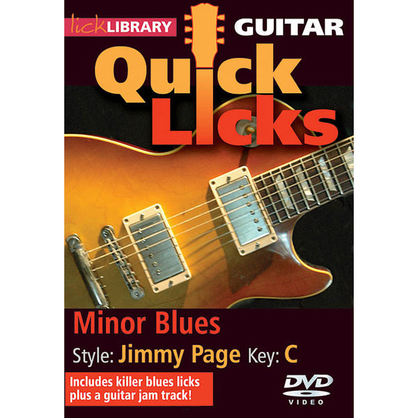 DVD - Quick Licks for Guitar - Jimmy Page: Minor Blues Key of C