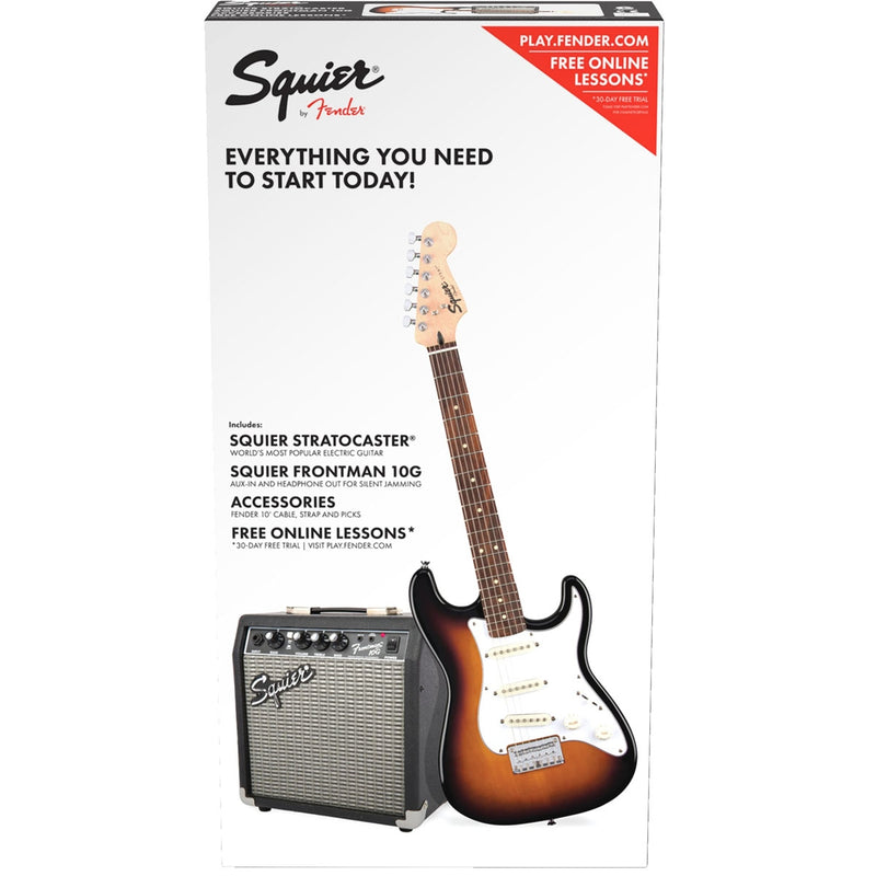 Squier Strat Pack SS (Short Scale), Brown Sunburst