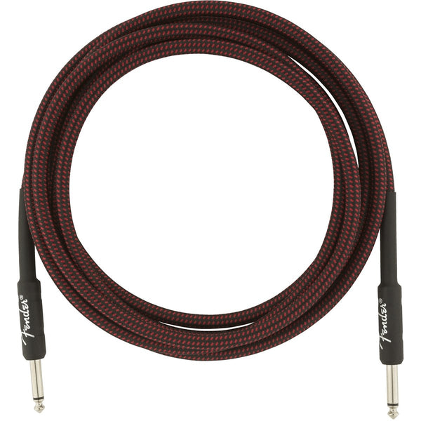 Fender Professional Series Instrument Cable, 10', Red Tweed