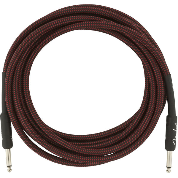 Fender Professional Series Instrument Cable, 15', Red Tweed
