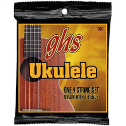 GHS 100 Baritone Ukulele Black Nylon/Phosphor Bronze Wound Strings