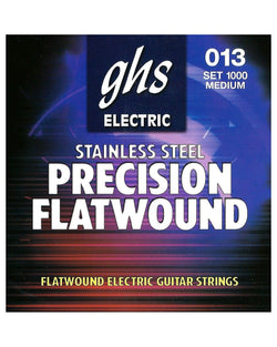 GHS 1000 Stainless Steel Precision Flatwound Medium Gauge Electric Guitar Strings
