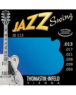 Thomastik Infeld JS113 Jazz Swing Flatwound Medium 6-String Electric Guitar Set