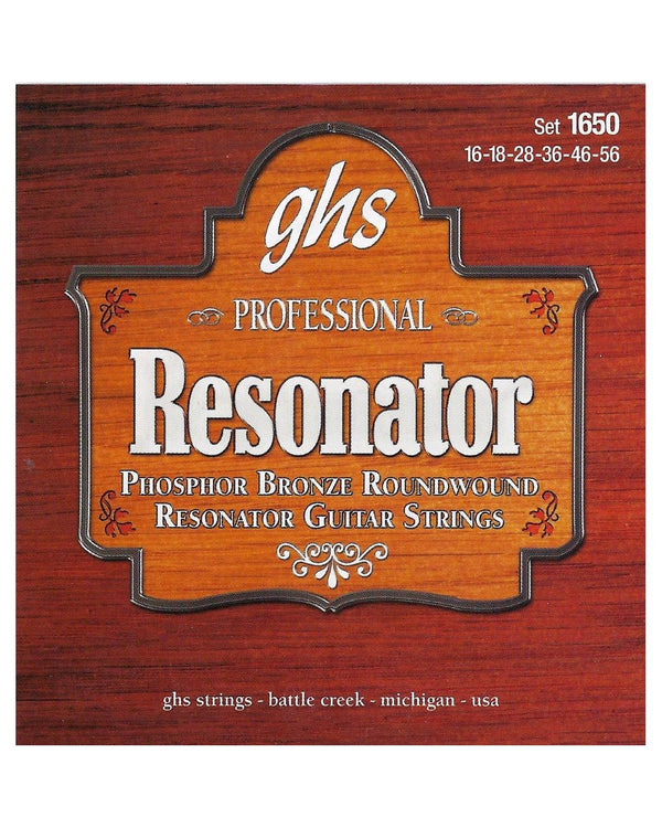 GHS 1650 Phosphor Bronze Resonator Acoustic Guitar Strings, G-Tuning