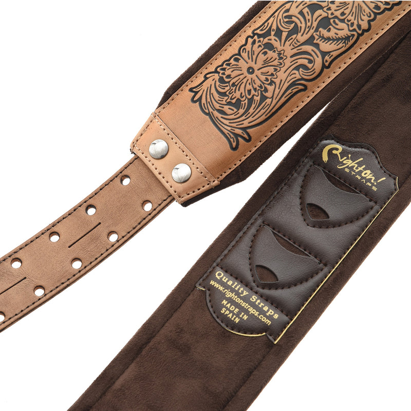 RIGHT ON! STRAPS LEATHERCRAFT CHARRO GUITAR STRAP