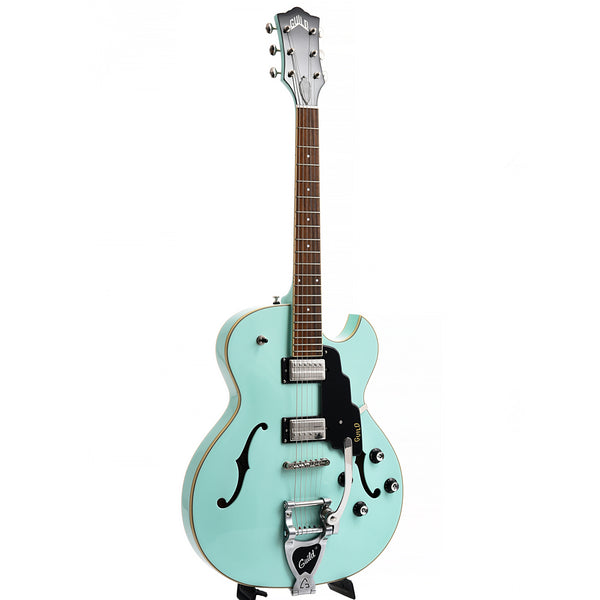 Guild Starfire I Single Cutaway Semi-Hollow Body Guitar with Vibrato, Seafoam Green