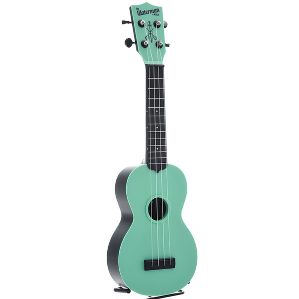 Kala Waterman KA-SWB Soprano Ukulele, Sea Foam Green Matte with Carrying Bag
