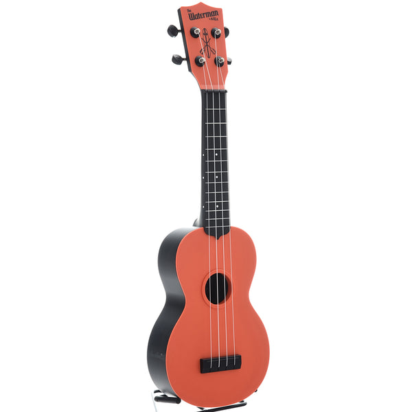 Kala Waterman KA-SWB Soprano Ukulele, Tomato Red Matte with Carrying Bag