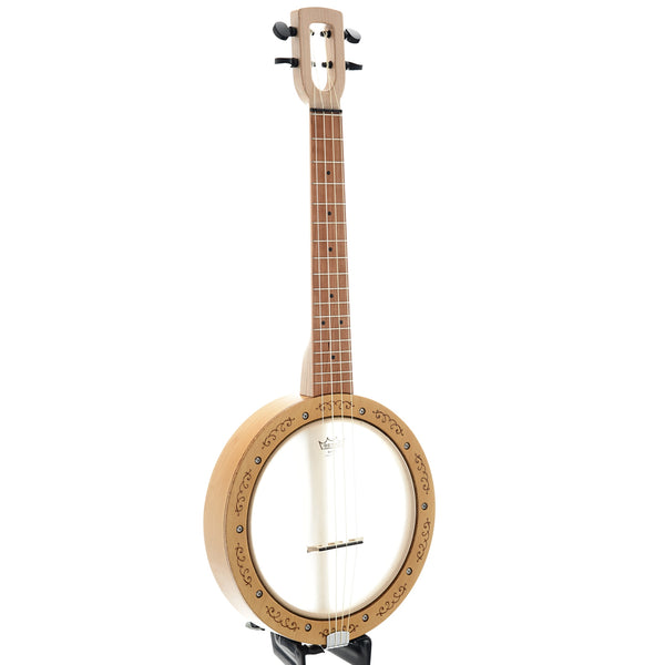 Magic Fluke Company Firefly Tenor Banjo Ukulele Scroll Etched Frame with Gigbag